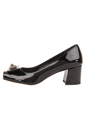 Womens Black Dory Block Heeled Pump 7