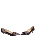 Womens Bordo Cosmic Patent Bliss Kitten Heel 5