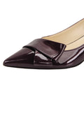 Womens Bordo Cosmic Patent Bliss Kitten Heel 6