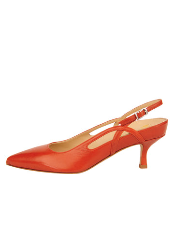 Womens Brandy Sadetta Pointed Toe Slingback 7
