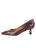 Womens Brown  Croc Ilaria Pointed Toe Kitten Heel 7