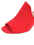 Womens Burnt Red Suede Gilda Peep-Toe Mule 6