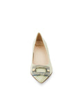 Womens Celery Nappa Serena Pointed Toe Pump 4