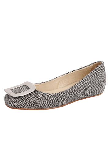 Womens Check Print Cloud Square Toe Flat Alternate View