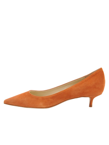Womens Cuoio Suede Born Pointed Toe Kitten Heel 7