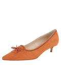 Womens Cuoio Suede Brusca Pointed Toe Kitten Heel