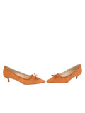 Womens Cuoio Suede Brusca Pointed Toe Kitten Heel 5