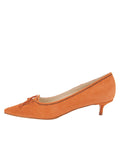 Womens Cuoio Suede Brusca Pointed Toe Kitten Heel 7