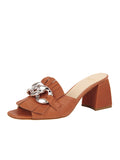 Womens Cuoio Getty Block Heeled Sandal