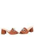 Womens Cuoio Getty Block Heeled Sandal 5