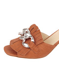 Womens Cuoio Getty Block Heeled Sandal 6