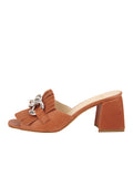 Womens Cuoio Getty Block Heeled Sandal 7
