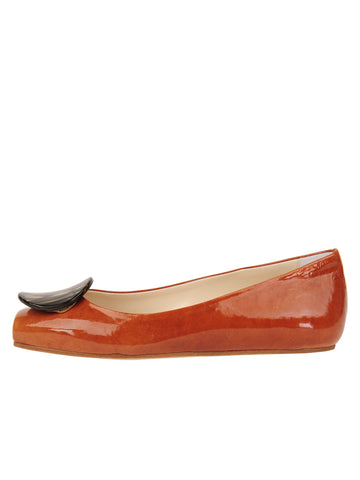 Womens Cuoio Cloud Square Toe Flat 7