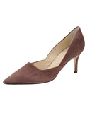 Womens Dark Brown Suede Esty Pointed Toe Pump