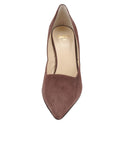 Womens Dark Brown Suede Esty Pointed Toe Pump 4