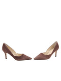 Womens Dark Brown Suede Esty Pointed Toe Pump 5