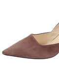 Womens Dark Brown Suede Esty Pointed Toe Pump 6