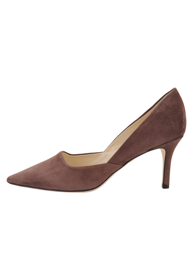 Womens Dark Brown Suede Esty Pointed Toe Pump 7