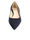 Womens Dark Navy Suede Born Pointed Toe Kitten Heel 4