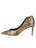 Womens Gold Snake Emmy Pointed Toe Pump 7