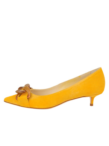 Womens Lemon Suede Bimmi Kitten Heel 7