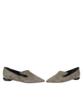 Womens Mini Leopard Glitter Max Pointed Toe Flat 5