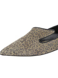 Womens Mini Leopard Glitter Max Pointed Toe Flat 6