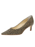 Womens Mini Leopard Glitter Nova Pointed Toe Pump