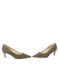 Womens Mini Leopard Glitter Nova Pointed Toe Pump 5