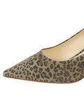 Womens Mini Leopard Glitter Nova Pointed Toe Pump 6