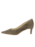Womens Mini Leopard Glitter Nova Pointed Toe Pump 7