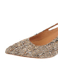 Womens Multi Sadetta Pointed Toe Slingback 6