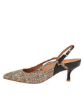 Womens Multi Sadetta Pointed Toe Slingback 7