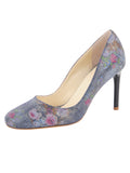 Womens Navy Floral Stamp Onima
