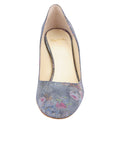Womens Navy Floral Stamp Onima 4