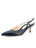 Womens Navy Leather Sadetta Pointed Toe Slingback Alternate View