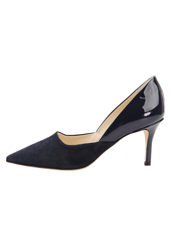 Womens Navy Patent Esty Pointed Toe Pump 7