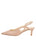 Womens Nude Patent Leather Nadette Pointed Toe Slingback 7