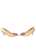Womens Pearl Nappa Serena Pointed Toe Pump 5