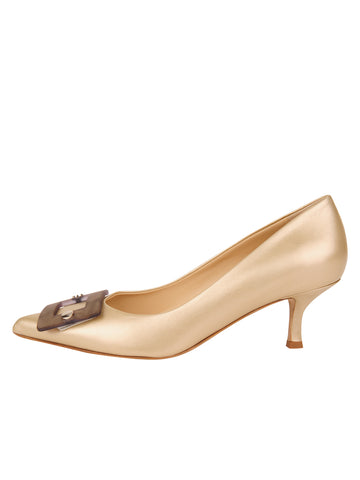 Womens Pearl Nappa Serena Pointed Toe Pump 7