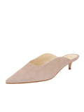 Womens Pebble Suede Berta Kitten Heel Mule
