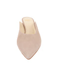 Womens Pebble Suede Berta Kitten Heel Mule 4