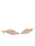 Womens Pebble Suede Berta Kitten Heel Mule 5