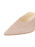 Womens Pebble Suede Berta Kitten Heel Mule 6