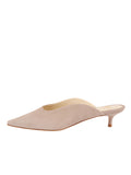 Womens Pebble Suede Berta Kitten Heel Mule 7