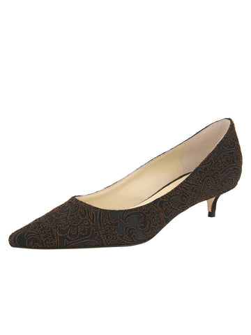 Womens Peppercorn Silk Paisley Born Pointed Toe Kitten Heel Alternate View