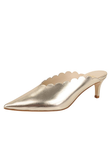 Womens Platino Nappa Niki Scalloped Mule Alternate View