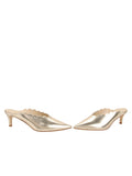 Womens Platino Nappa Niki Scalloped Mule 5