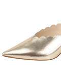 Womens Platino Nappa Niki Scalloped Mule 6