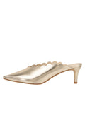 Womens Platino Nappa Niki Scalloped Mule 7